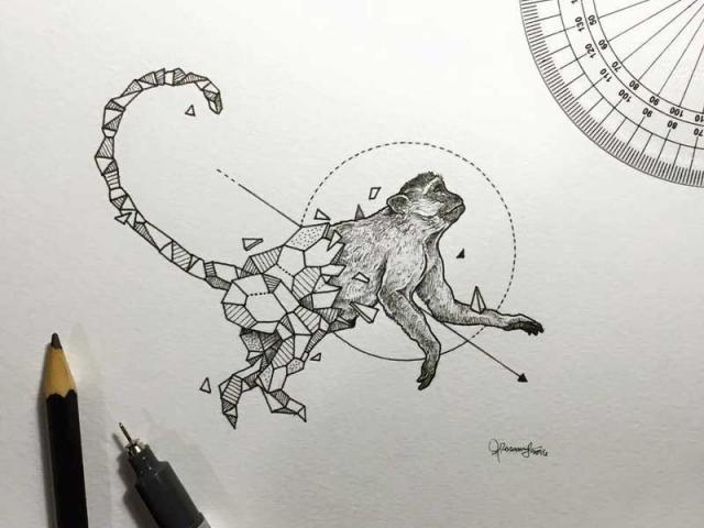 geometrik-maymun-dovmesi-geometrik-dovme-modelleri-min
