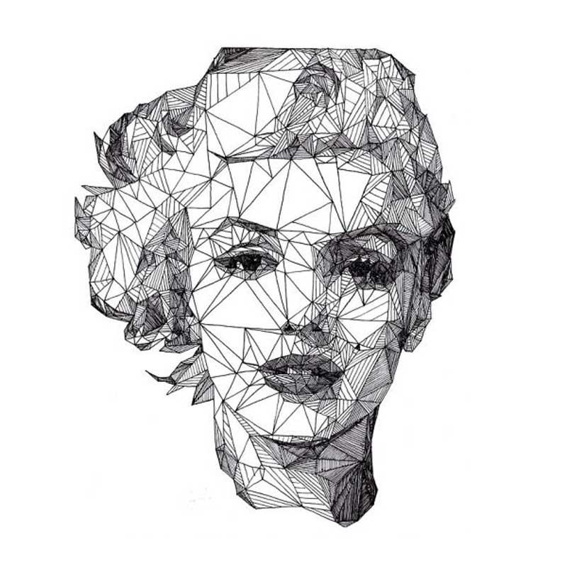 geometrik-merlin-moonroe-dovmesi-geometrik-dovme-modelleri-min