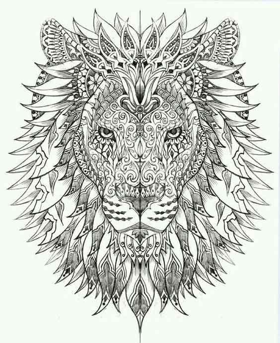 mandala-aslan-dovme-modeli