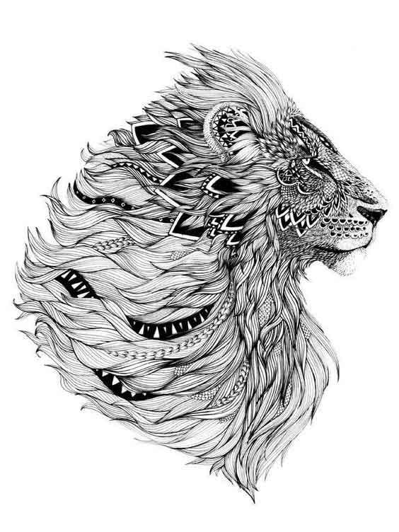 mandala-aslan-dovme-modelleri