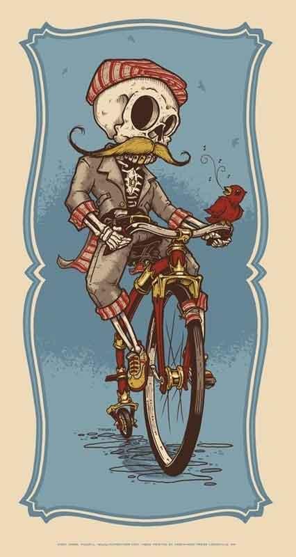 old-school-bisiklet-iskelet-dovme-modeli