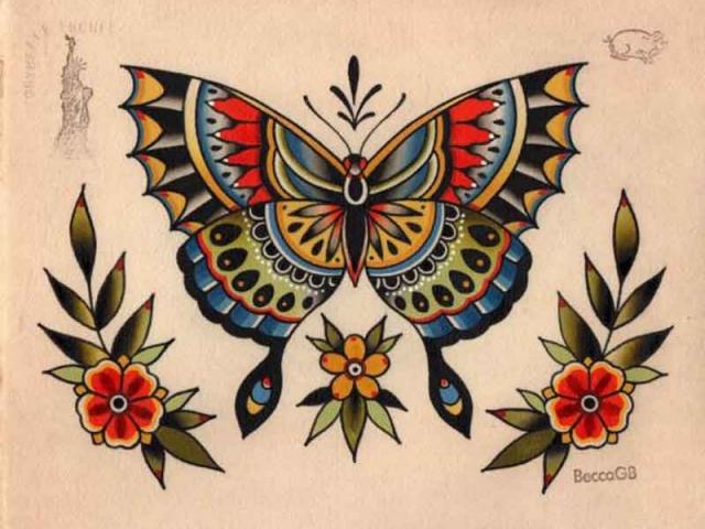 old-school-kelebek-dovme-modeli