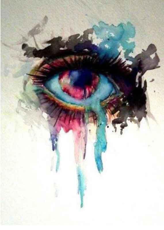 sulu-boya-water-color-göz-dövme-modeli-1