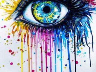 sulu-boya-water-color-göz-dövme-modeli