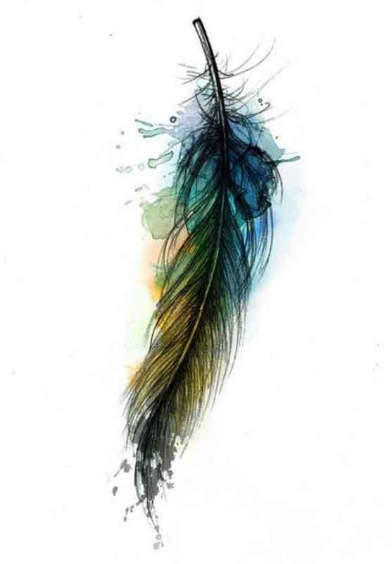 sulu-boya-water-color-kus-tuy-dovme-modeli
