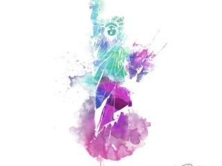 sulu-boya-water-color-ozgurlük-heykeli-dovme-modeli