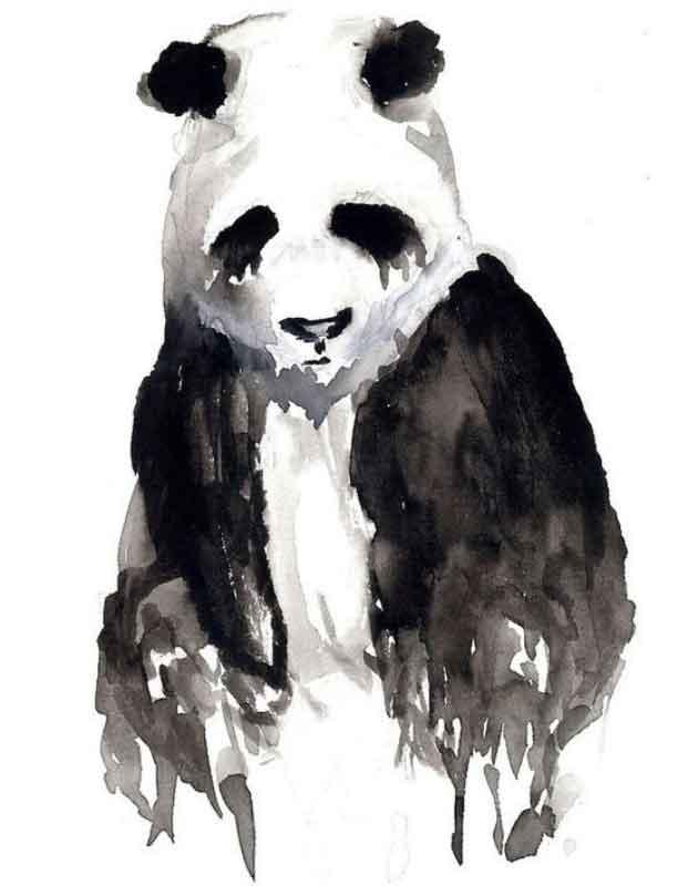 sulu-boya-water-color-panda-dovme-modeli