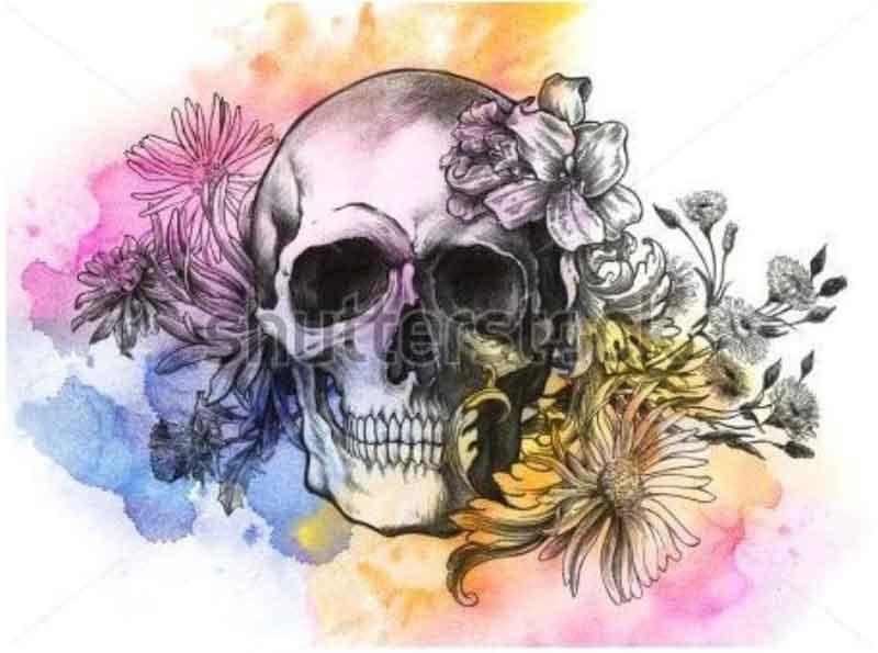 sulu-boya-water-color-skull-dovme-modeli