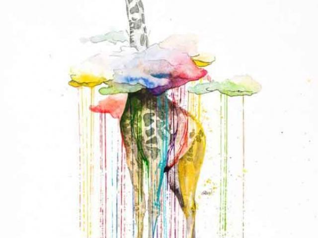 sulu-boya-water-color-zürafa-dovme-modeli